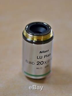 NIKON Microscope Objective Lens LU PLAN 20x/0.40 A ELWD /0 WD free ship