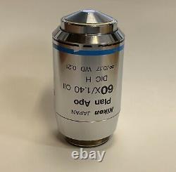 NIKON Plan Apo Apochromat 60X/1.40 Oil DIC H Microscope Objective