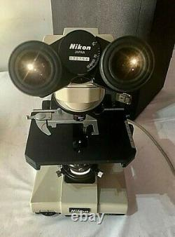 Nikon 120v Labophot with 4 plans with Cover and Case WOW