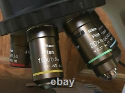 Nikon 50i Eclipse Microscope for Clinical or Research 4/10/20/40 Plan Objectives