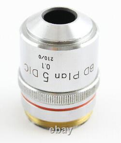 Nikon BD Plan 5x 0.1 DIC Microscope Objective 210 Optiphot Epiphot