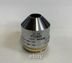 Nikon CF Plan 10x /0.30 A /0 BD DIC Infinity Microscope Objective