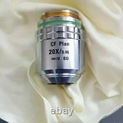 Nikon CF Plan 20x/0.46 /0 BD WD 3.1 microscope objective