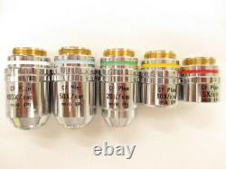 Nikon CF Plan EPI 5X 10X 20X 50X 100X Infinity Microscope Objective Lens set RMS