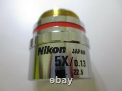 Nikon CF Plan EPI 5x / 0.13 /0 WD 22.5 Infinity Microscope Objective Lens