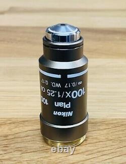 Nikon CFI Plan 100x Oil Microscope Objective Eclipse 50 55i E200 E400 E600 Ci