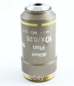 Nikon CFI Plan 10x 0.25 Eclipse E I Series Microscope Objective Infinity