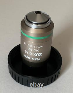 Nikon CFI Plan APO 20x/0.75 DIC N2 Microscope Objective Lens (WD = 1mm)