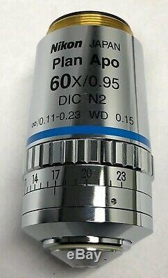 Nikon CFI Plan Apo 60x/0.95 DIC N2 /0.11-0.23 WD 0.15 Microscope Objective 103%