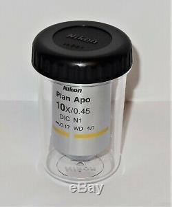 Nikon CFI Plan Apo DIC 10X Microscope Objective