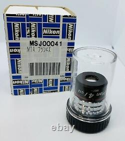 Nikon CFN Plan 4X/0.20 Microscope Objective 160mm NEW