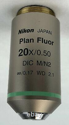 Nikon Cfi Plan Fluor 20x/0.50 DIC M/n2 Wd 2.1 Microscope Objective 105% Refund