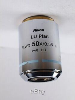 Nikon LU Plan 50x ELWD B EPI L & LV Series Industrial Microscope Objective