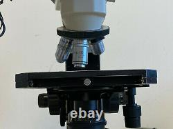 Nikon Labophot Dual Head Microscope with Eyepieces, Plan Objectives, & Condensor