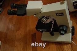 Nikon Labophot Microscope objective E plan 40/0.65 10/0.25 Abbe 1.25 condenser