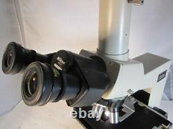 Nikon Labophot trinocular Microscope E plan 4x 10x 40x and 100x oil