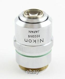 Nikon M Plan 20x 0.4 ELWD Microscope Objective 210 Optiphot Epiphot