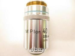 Nikon M Plan 40x 210/0 0.55 LWD Microscope Objective Lens RMS