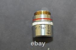 Nikon M Plan 5x 0.1 210/0 Microscope Objective Lens