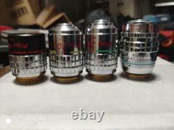 Nikon Microscope 4 objective lenses set PhL Plan4 Ph1 Plan10 Ph2 Plan20 Ph3DM