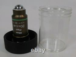 Nikon Microscope Objective Plan 20x/0.40 /0.17 WD 1.2 Hoffman Modulation 20x