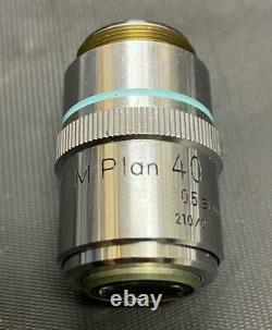 Nikon Microscope objective lens M Plan 40x 0.5 ELWD 210/0used japan