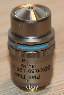 Nikon Mikroskop Microscope Objektiv Plan Fluor 60x/0,50-1,25 Oil Iris DIC N2