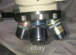 Nikon Optiphot BD PLAN Microscope 3-place BD 5x, 10X, 60X with Illuminator