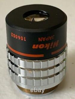 Nikon PhL Plan 4 / 0.13 DL 160 / -, 4X Phase Contrast Microscope Objective