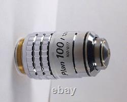 Nikon Plan 100x /1.25 Oil 160 TL DIC / Nomarski Microscope Objective