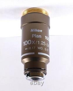 Nikon Plan 100x /1.25 Oil CFI M25 Eclipse Microscope Objective