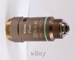 Nikon Plan 20x Hoffman Modulation Eclipse Microscope Objective