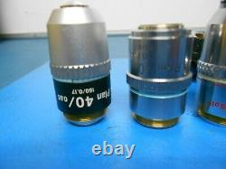 Nikon Plan 40x/0.65 160/0.17 objective Microscope & other Lens Lot of 6