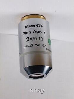 Nikon Plan APO LAMBDA 2x /. 10 Infinity CFI Eclipse Microscope Objective