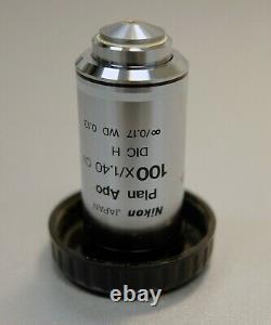 Nikon Plan Apo 100x/1.40 Oil DIC H Eclipse Microscope Objective