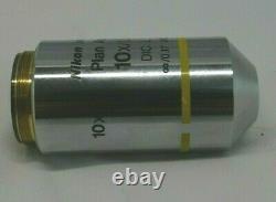Nikon Plan Apo 10X/0.45 DIC L Microscope Objective