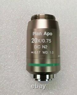 Nikon Plan Apo 20x/. 75 1.0 Wd Microscope Objective DIC N2