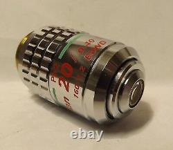 Nikon Plan ELWD 20x 0.40 160/1.2 Ph2 DM Phase Contrast Microscope Objective
