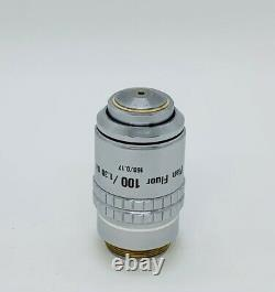 Nikon Plan Fluor 100x /1.3 Oil 160mm TL Microscope Objective