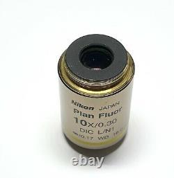 Nikon Plan Fluor 10X/0.30 DIC L /0.17 WD 16.0 Microscope Objective