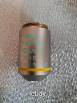 Nikon Plan Fluor 10x/0.30 Microscope Objective
