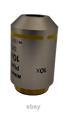 Nikon Plan Fluor 10x DIC Microscope Objective Lens