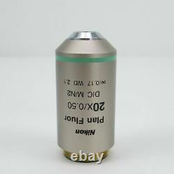 Nikon Plan Fluor 20x/0.50 DIC M/n2 Wd 2.1 Cfi Microscope Objective