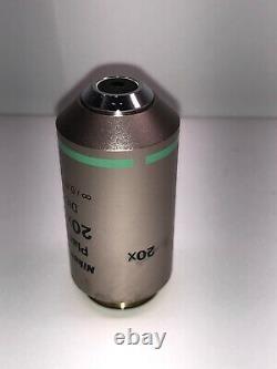 Nikon Plan Fluor 20x/0.50 Microscope Objective DIC M 0.17 WD 2.1