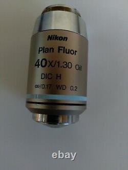 Nikon Plan Fluor 40X/1.30 Oil DIC H Microscope Objective, infinity corrected