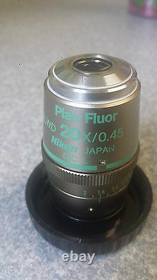 Nikon Plan Fluor ELWD 20x 0.45 DIC L WD Microscope Objective
