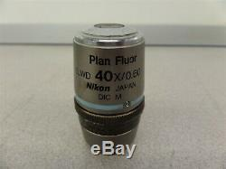 Nikon Plan Fluor ELWD 40x / 0.60 DIC M Objective