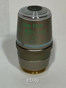 Nikon Plan Fluor ELWD 40x /0.60 Microscope Objective Ph2 DM /0-2 WD 3.7-2.7 DIC